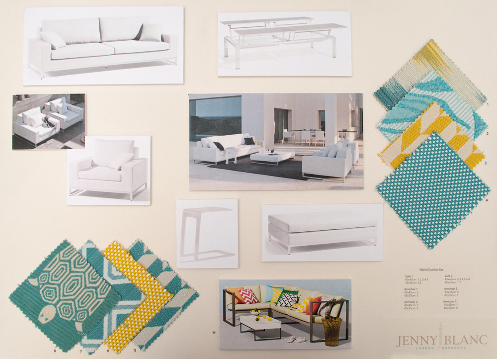 Jenny Blanc Blog - Finalised Scheme in Barbados Sitting Room