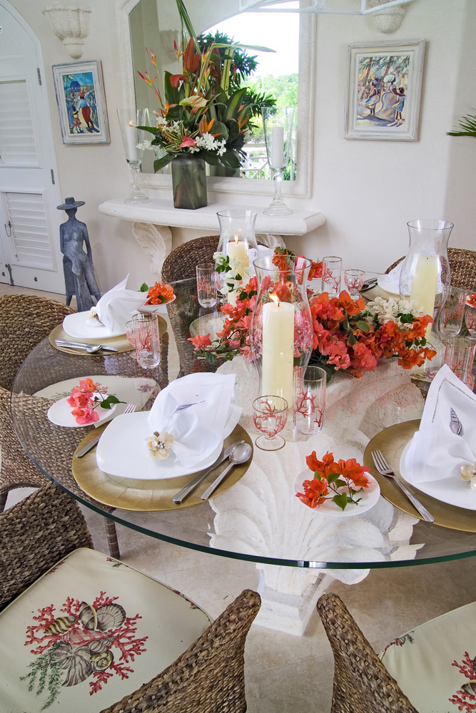 Jenny Blanc Blog - Hand Carved Coral Stone Dining Table Base 1