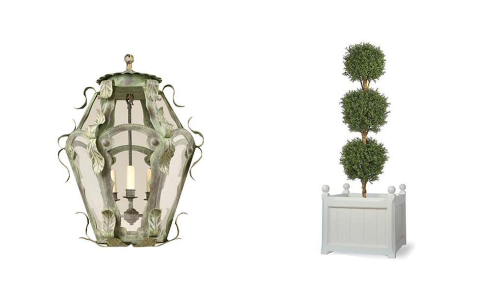Jenny Blanc Blog - Lantern and Planter
