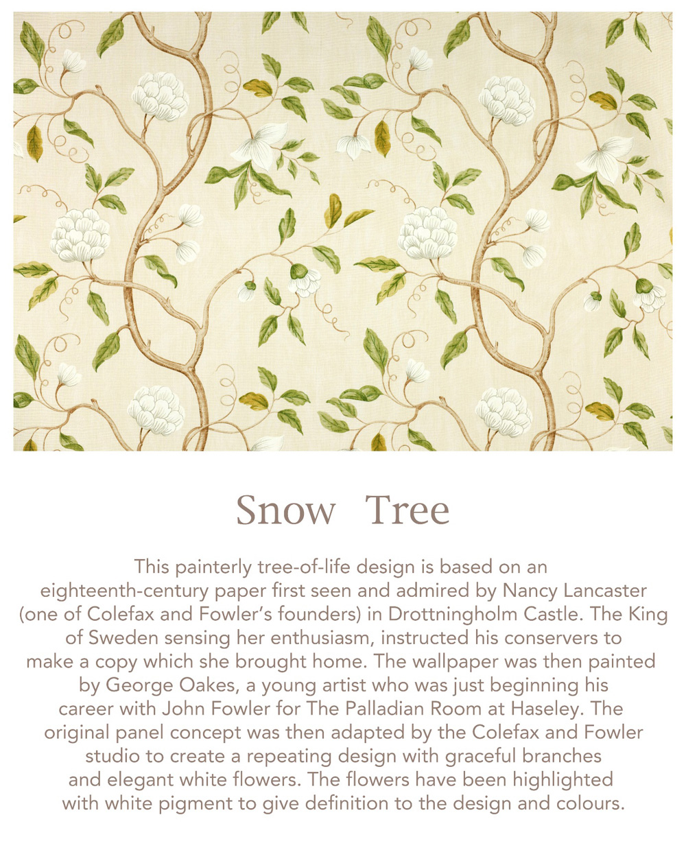 Jenny Blanc Blog - Snow Tree Fabric