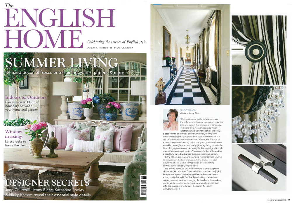 Jenny Blanc Blog - English Home Feature