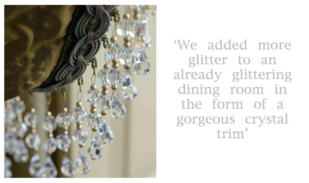 Jenny Blanc Blog - Glittering Dining Room Crystal Trim