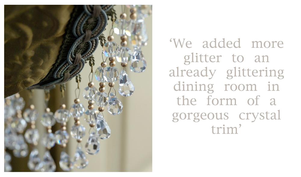 Jenny Blanc Blog - Glittering Dining Room Crystal Trim