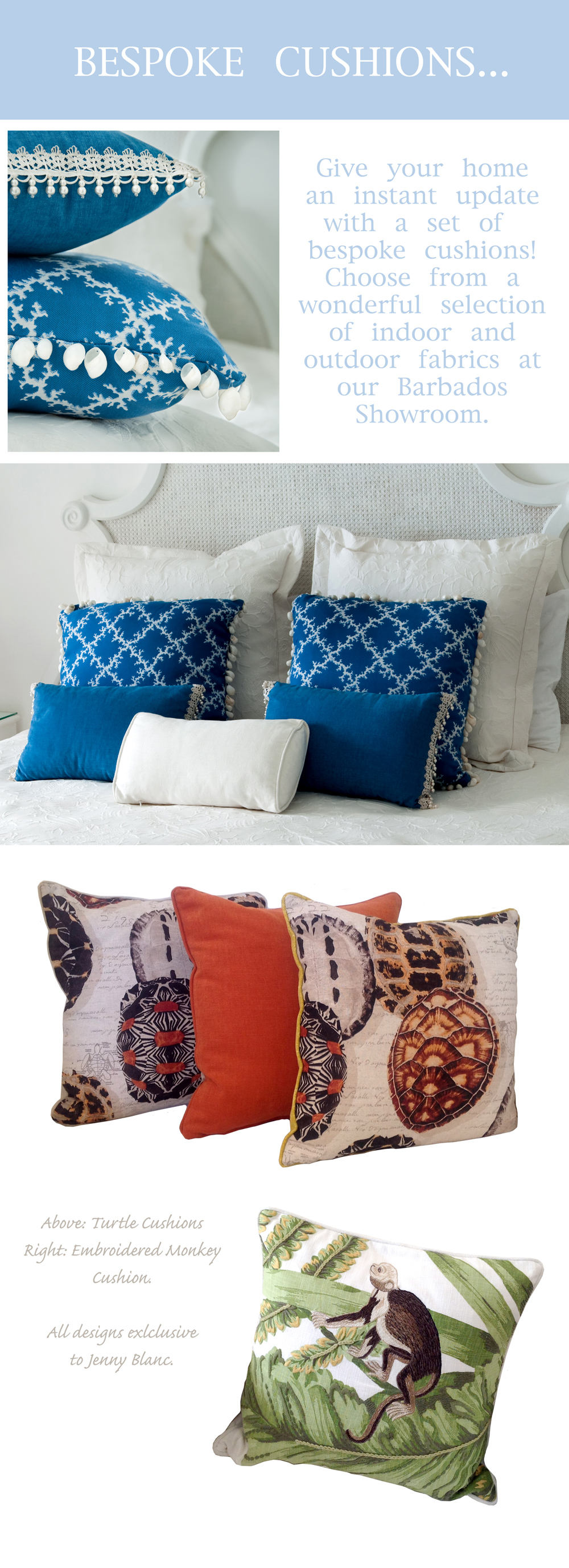 Jenny Blanc Blog - Bespoke Cushions