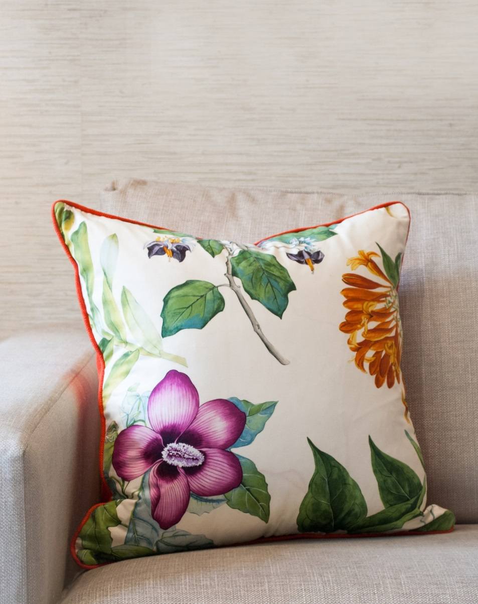 Jenny Blanc Blog - Tropical Cushion