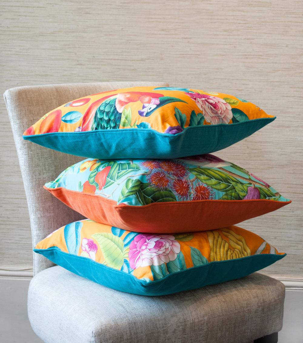 Jenny Blanc Blog - Tropical Cushions Stack