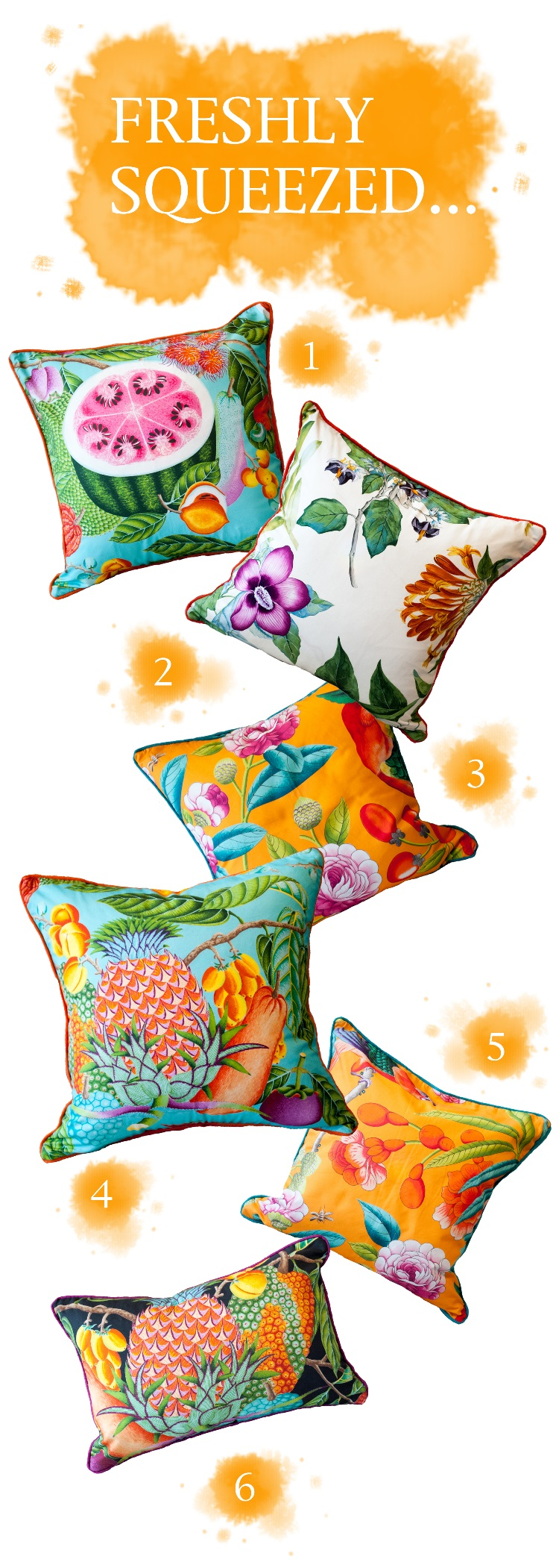 Jenny Blanc Blog - Tropical Cushions