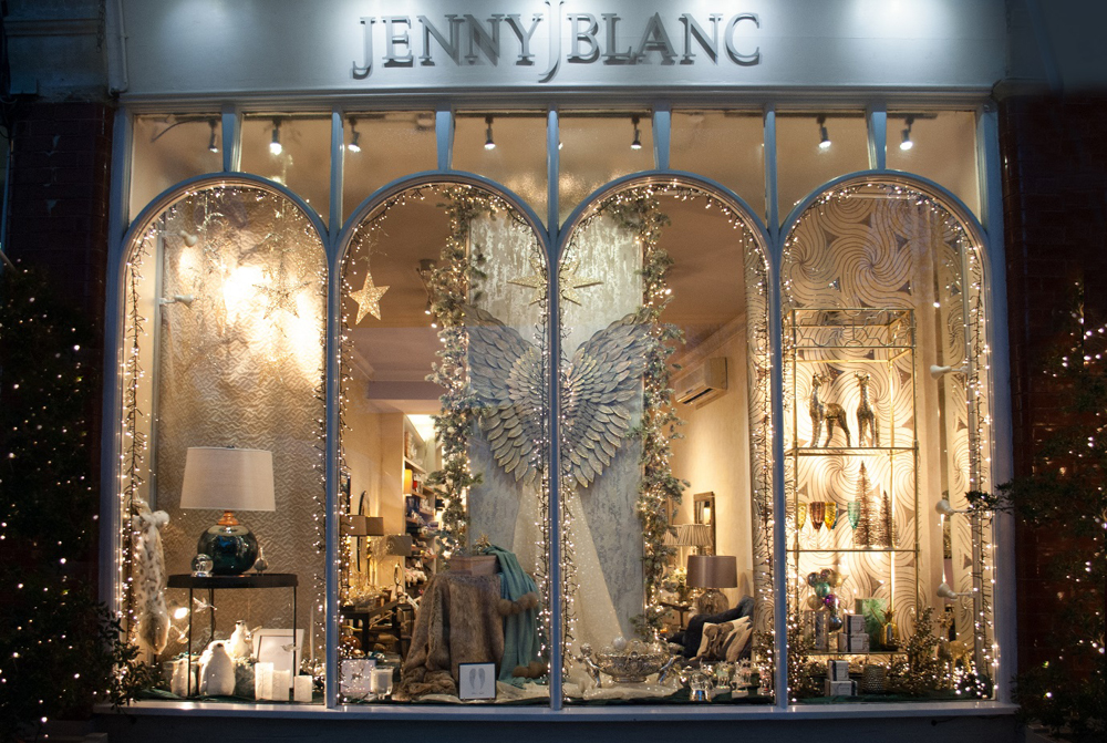 Jenny Blanc - London Showroom Christmas Window Display