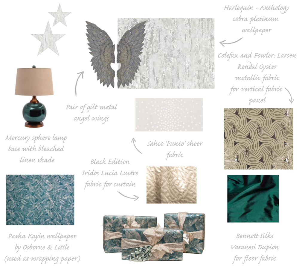 Jenny Blanc - London Showroom Christmas Window Display Mood Board