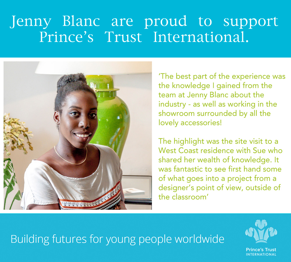 Jenny Blanc Blog - Supports Princes Trust International