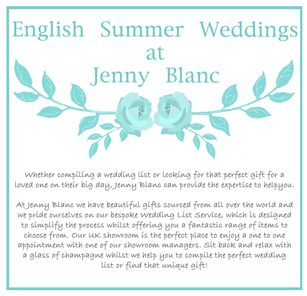 Jenny Blanc - English Summer Wedding