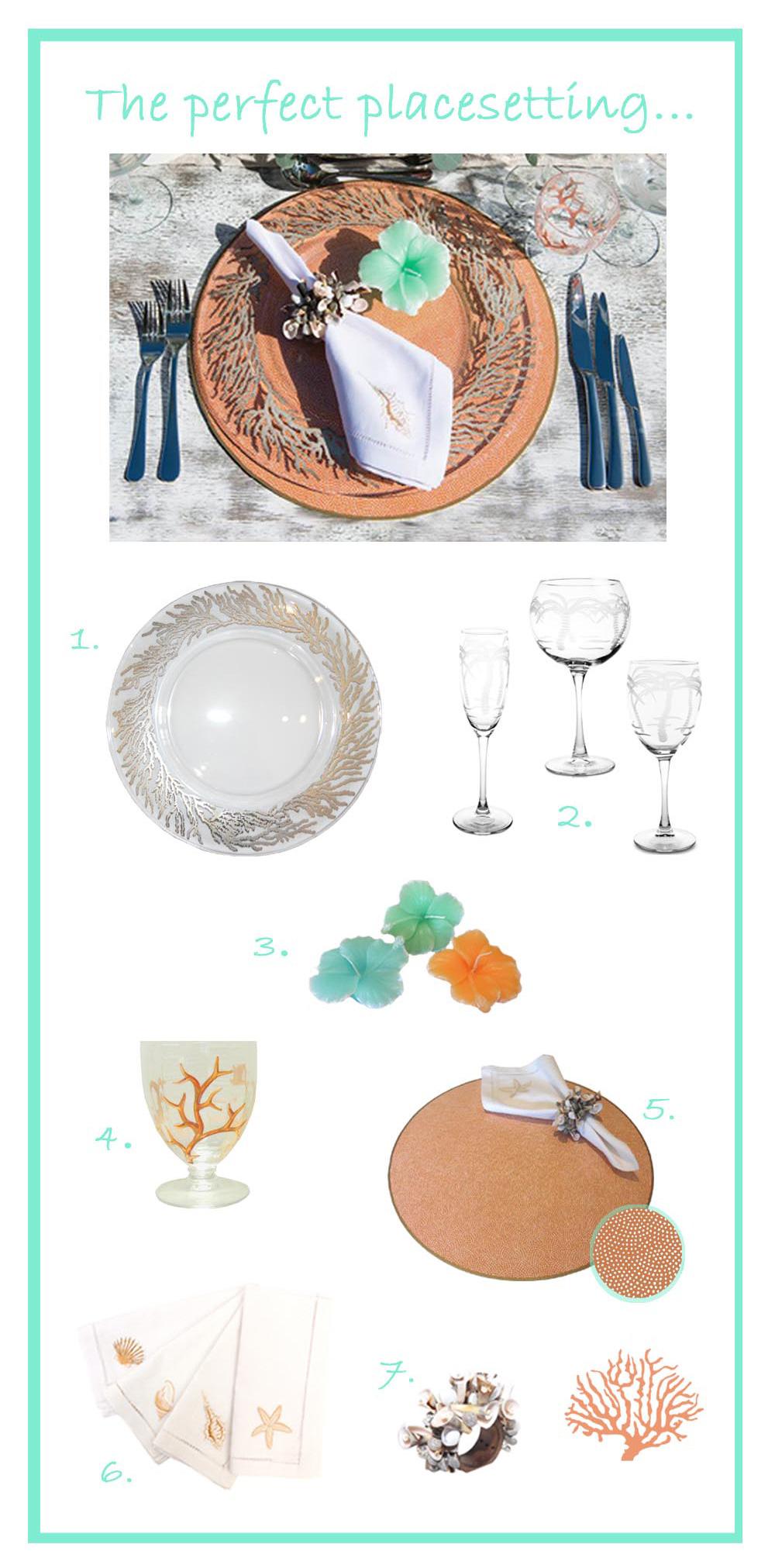 Jenny Blanc - Barbados Wedding Place Setting