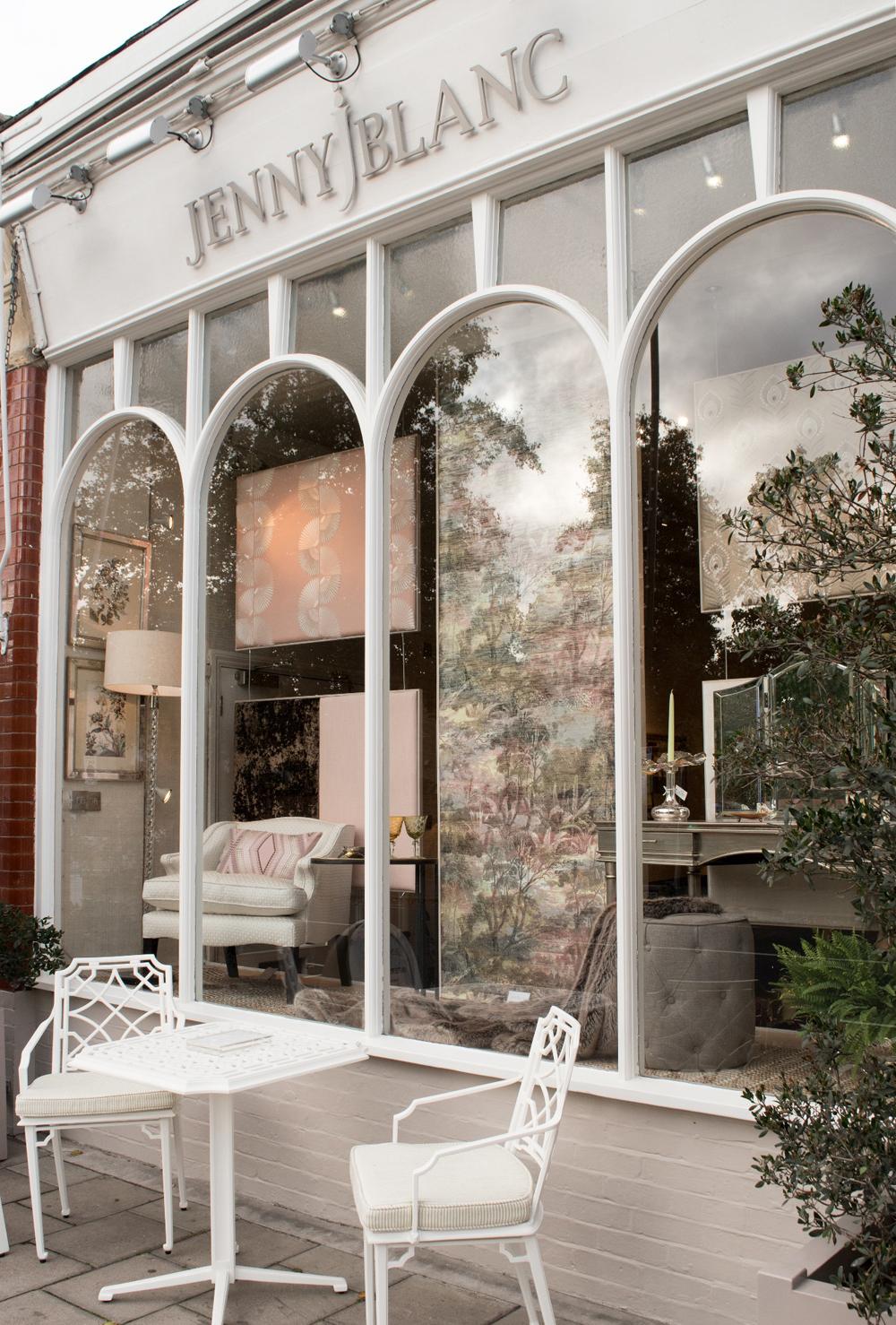 Jenny Blanc London Showroom Window Display