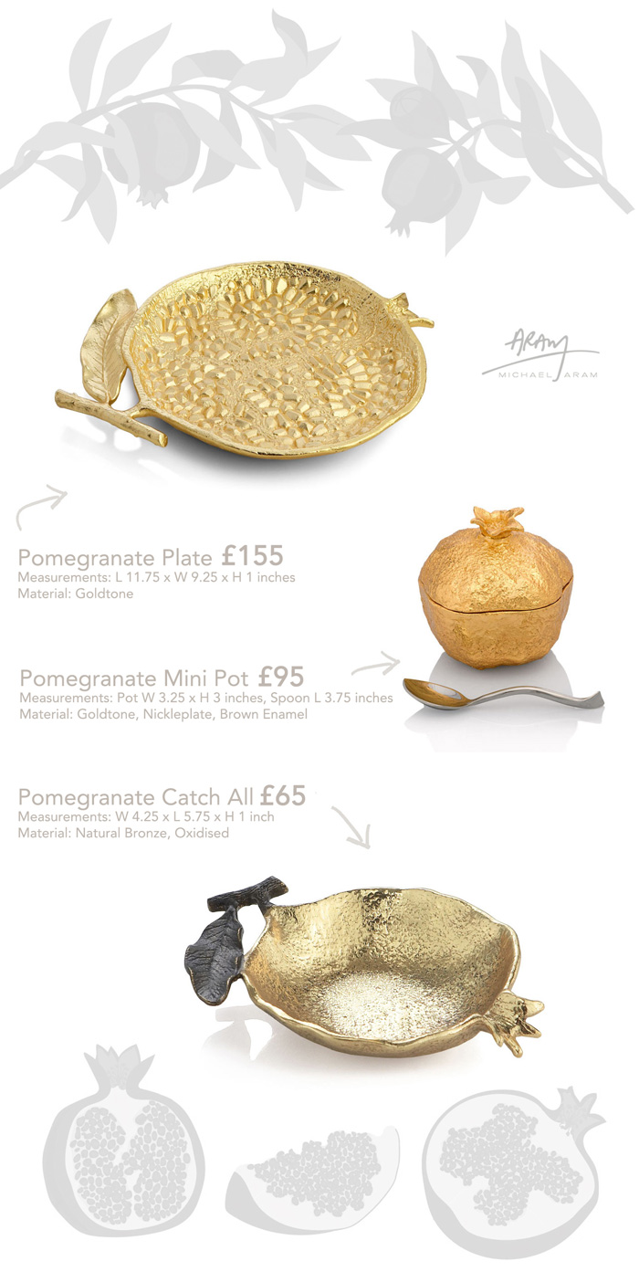 Jenny Blanc Blog - Selection of Pomegranate Tableware