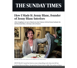 Jenny Blanc - Press - The Sunday Times - August 2012
