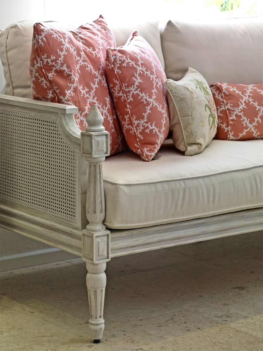Jenny Blanc - Furniture Collections - Cane and Wood Bench