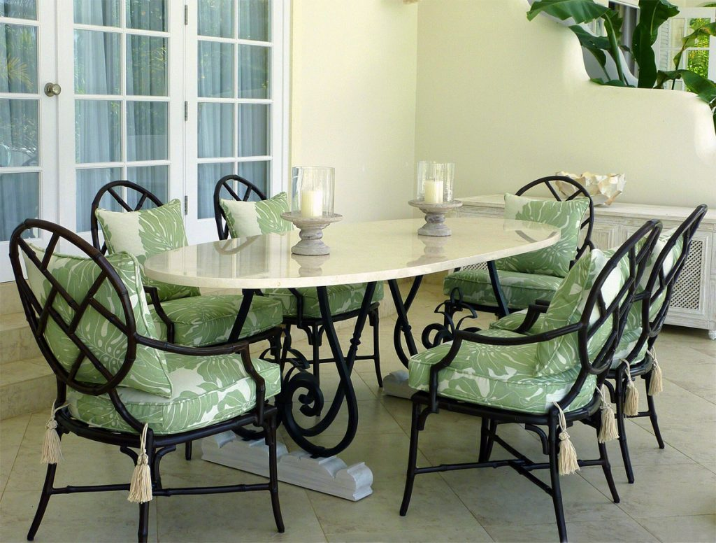 Jenny Blanc - Furniture Collections - Wrought Iron Dining Table
