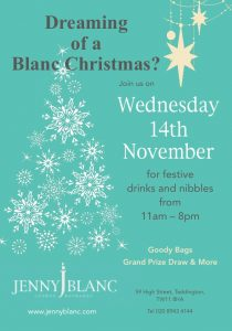Jenny Blanc Blog - Dreaming of a Blanc Christmas? 2018