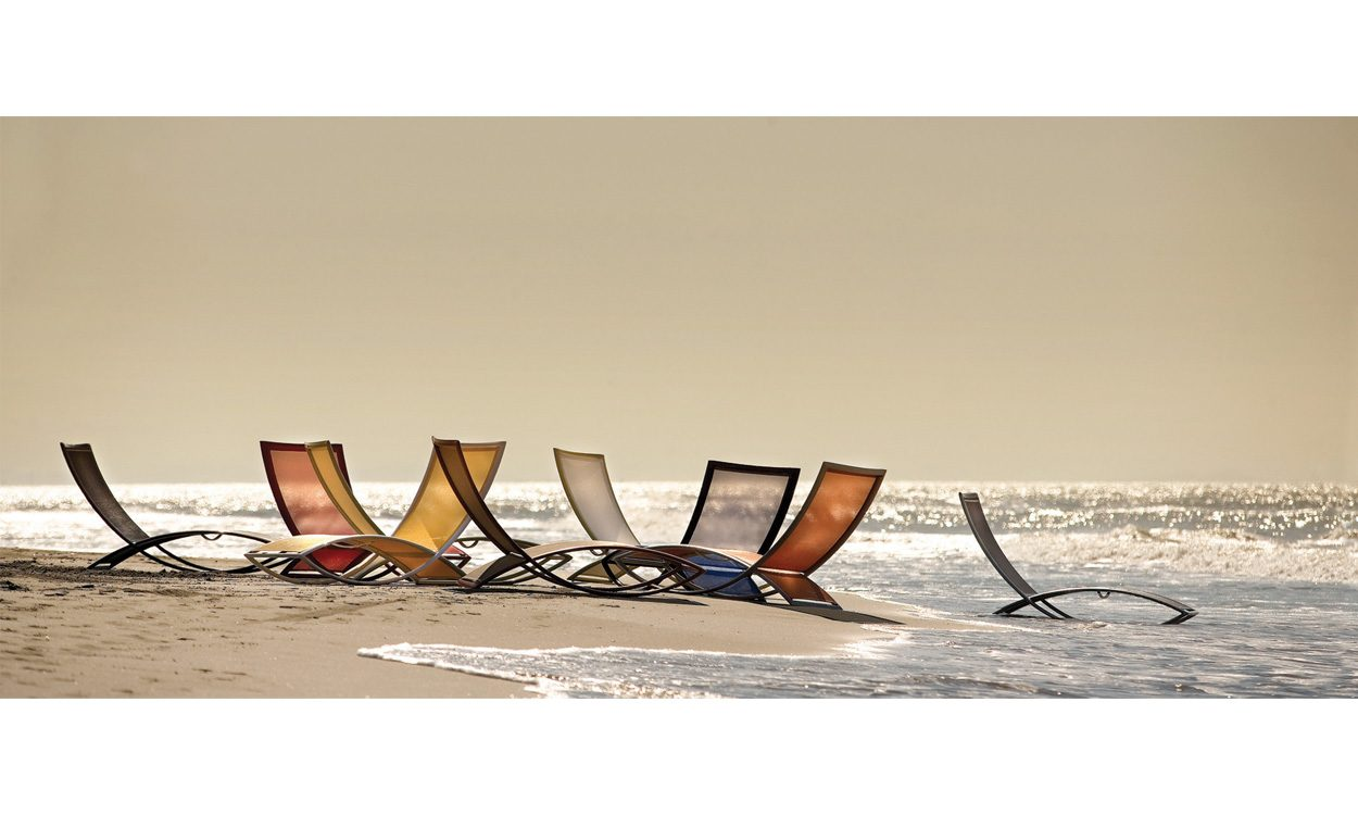 Jenny Blanc Interiors - Brand Partners - Ego Paris - Premiere Fish Chaise Lounge Outdoor Furniture