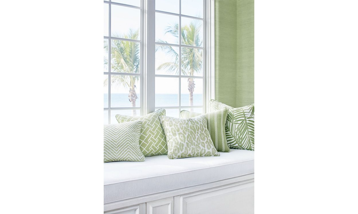 Jenny Blanc - Brand Partners - Thibaut Fabrics - Oasis Green Group Fabric Collection