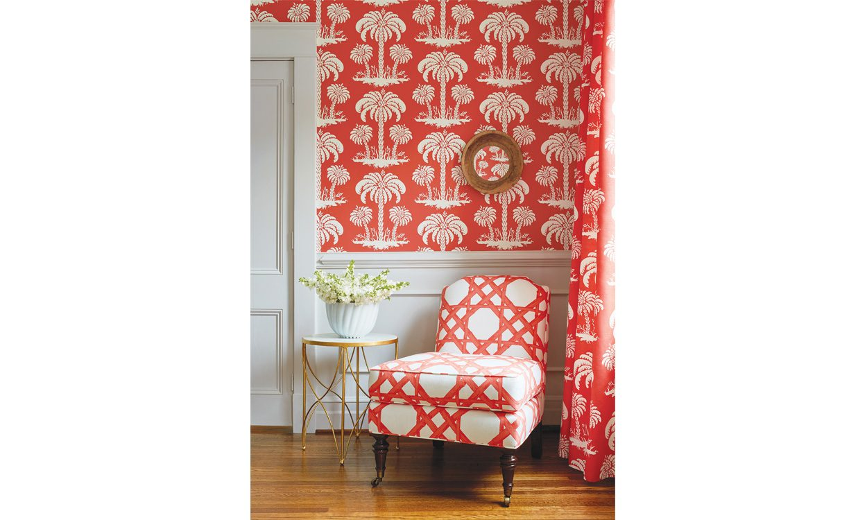 Jenny Blanc - Brand Partners - Thibaut Fabrics - Summer House Palm Island Fabric Collection