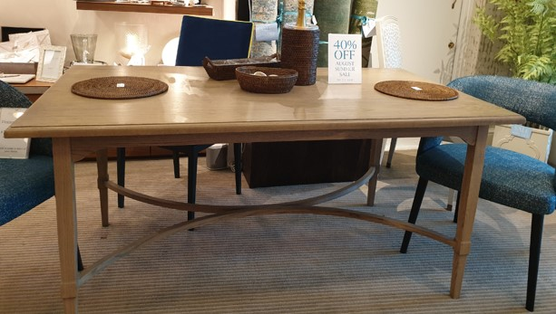 Jenny Blanc Blog - August Sale - Handmade Oak Dining Table